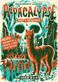 Alpacalypse! by David Maclennan, via Behance
