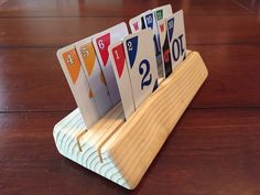 Picture of Wooden Playing Card Holder for Kids