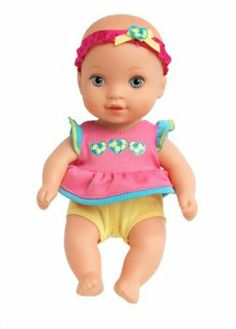 Water Babies Giggly Wiggly Rainbow Color Print Dress Doll w// Pacifier /& Bottle