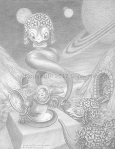 The Unexpected #pencildrawing #fantasy #sciencefiction #surreal #fineart
