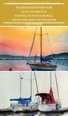 ORIGINAL Watercolor Painting The Lonely Boat Yacht watercolor painting ORIGINAL Watercolor Painting,Yacht Watercolor,Watercolor Seascape,Original painting,Watercolor Wall Art,Watercolor Yacht,For Him Gift,Father Watercolor Paintings, Original Paintings, Gifts For Father, Lonely, Boat, Wall Art, Movie Posters, Dinghy, Water Colors