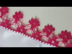 This Pin was discovered by Dil Phulkari Embroidery, Creative Embroidery, Crochet Borders, Embroidered Clothes, Crochet Earrings, Crafts For Kids, Cross Stitch, Knitting, Handmade