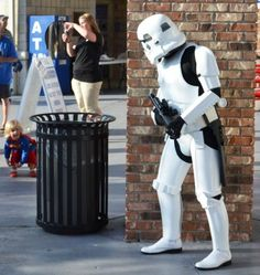 Mini SuperGirl vs. Storm Trooper