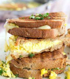Scrambled Egg Grilled Cheese