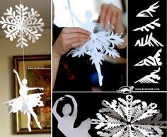 Paper Snowflake Ballerinas Tutorial