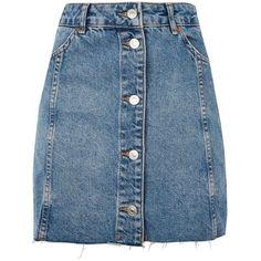 TopShop Moto Button Front Mini Skirt (3.270 RUB) ❤ liked on Polyvore featuring skirts, mini skirts, faldas, bottoms, topshop, mid stone, short mini skirts, button skirt, topshop skirts and mini skirt