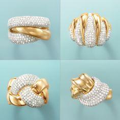 Diamond Rings – Your Choice. Pave Diamond Braid Ring, Pave Diamond Knot Ring, Pave Diamond Rollin… in 2020 Diamond Knot, Diamond Rings, Diamond Jewelry, Gold Jewelry, Jewelery, Men's Jewellery, Designer Jewellery, Womens Jewelry Rings, Women Jewelry