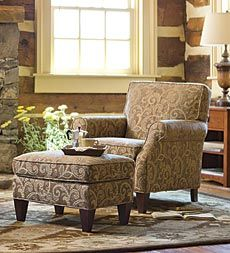 chairs and ottomans upholstered royal rolling atlantic city nj 34 best club images sofa chair armchairs couches usa made bedford collection ottoman plow hearth 23 fabrics mahogany paisley is nice