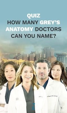 And no his name isn't actually Dr. McDreamy.