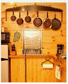 Rustic kitchen with repurposed tools