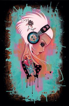#girl #headphones