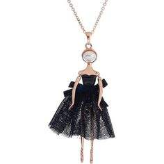 Ted Baker London 'Claraa Ballerina' Pendant Necklace (€115) ❤ liked on Polyvore featuring jewelry, necklaces, rose gold, pendants & necklaces, swarovski crystal jewelry, ballerina jewelry, swarovski crystal necklace and ballerina necklace