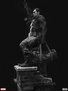 ArtStation - The Punisher, Tiago Rios Character Concept, Character Art, Concept Art, Punisher Marvel, Marvel Dc, Daredevil, Frank Castle Punisher, Custom Action Figures, Drawing Techniques