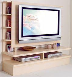 Meuble tv mural avec panneau pivotant projet bureau for Meuble pour tele