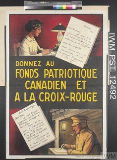 Donnez au Fonds Patriotique Canadien et à la Croix-Rouge [Give to the Canadian Patriotic Fund and to the Red Cross]