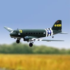 Dynam C-47 Skytrain Green 1470mm Wingspan EPO Scale RC Airplane PNP DY8931