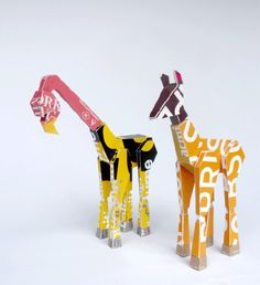 animal sculptures from salvaged packaging by Kristy Fletcher
