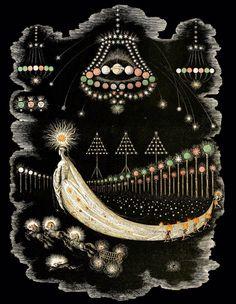 A Comet's Journey, illustration by J.J. Grandville, from Un Autre Monde. Published by H. Fournier, Paris, 1844