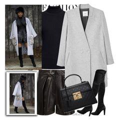 """Blogger Closet: Winter Shorts"" by arethaman ❤ liked on Polyvore featuring Ji Oh, Rumour London, MANGO, Baldwin, Gucci, BloggerStyle, leathershorts, BlackAndGrey and OverTheKneeBoots"