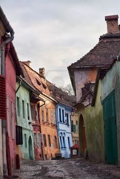Romania Travel Inspiration - An old medieval street in Sighişoara :copyright: Gabriela Insuratelu, Shutterstock Cool Places To Visit, Places To Travel, Visit Romania, Transylvania Romania, Romania Travel, Voyage Europe, Beautiful Streets, Romantic Vacations, Europe Destinations