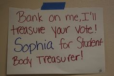 student council treasurer posters - Google Search