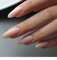 nail art designs for spring ; nail art designs for winter ; nail art designs with glitter ; nail art designs with rhinestones Nude Nails, My Nails, Coffin Nails, White Oval Nails, Neutral Nails, Nails At Home, Shellac Nails, Pedicure Nails, Glitter Nails