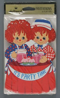 Image detail for -Raggedy Ann & Andy Birthday Party Invitations | invitation | Raggedy ...