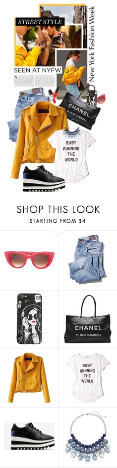 """Snap It: NYFW Street Style"" by shortyluv718 ❤ liked on Polyvore featuring Thierry Lasry, Kershaw, Chanel, Hollister Co., STELLA McCARTNEY and StreetStyle"