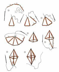 Construct diamonds with straw and thread. by vlijtig in Topics and straws diy diamond diamonds geo geometric kit Bead Crafts, Paper Crafts, Diy Crafts, Drinking Straw Crafts, Theme Mickey, Diy Straw, Diy Plant Stand, Making Dream Catchers, Beaded Jewelry Patterns