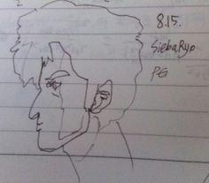 Saeba Ryo, drawn in 8.15.2016