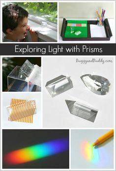 Exploring Light Using Prisms #science #primaryed @buggyandbuddy // Explorando la luz mediante prismas #ciencia #edprimaria
