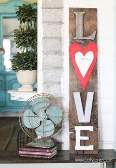 Rustic LOVE Barn wood sign