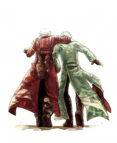 Tags: Anime, Devil May Cry, Dante, Pixiv, Vergil