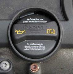 Nachfüllstutzen für Öl - hier füllen Sie, falls nötig, Öl nach. Aber Achtung: Sie brauchen unbedingt das richtige Öl!