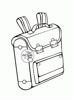 Backpack coloring page for kids, back to school coloring pages printables free… Free Kids Coloring Pages, School Coloring Pages, Coloring Pages For Kids, First Day Of School, Back To School, Colorful Backpacks, Printable Activities For Kids, Simple Math, School Colors