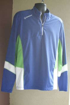 Sunice Long Sleeve Technical Shirt Men's Large, 1/2 Zip with Front Pocket