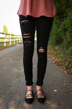 Soho District Distressed Skinny