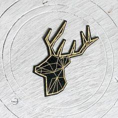 Deer Patch Animal Cartoon patches Deers patch Applique