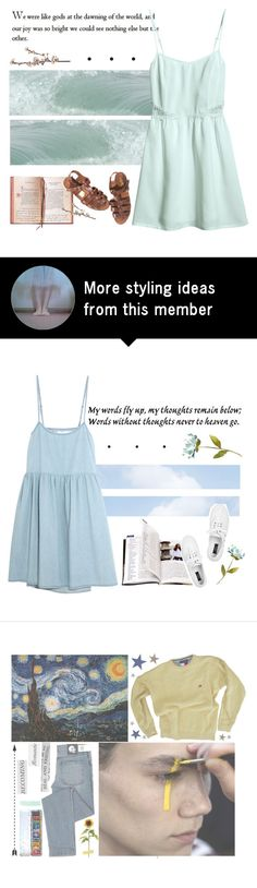 """You'll dissolve into sea foam, drifting forever"" by nymphetdream on Polyvore featuring H&M"