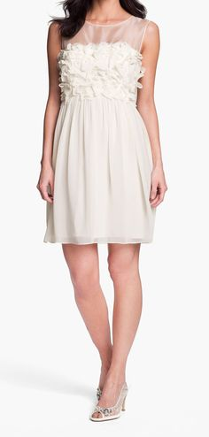 this chiffon dress would be cute for a bridal shower or brunch