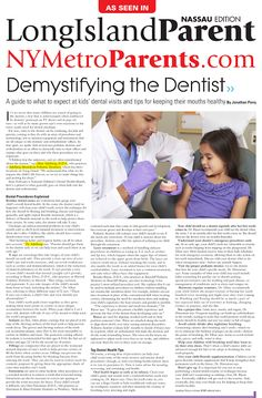 Adelberg Montalvan Pediatric Dental Featured in NYMetro Parents - Read our blog to see how we helped demystify the dentist :)