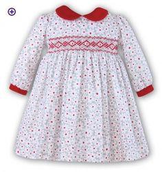 FLORAL HAND SMOCKED DRESS - SARAH LOUISE 8644 - Little Cherubs Clothing