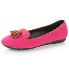 So cute! Pink loafers with tassels, $13.00 and more where these came from!