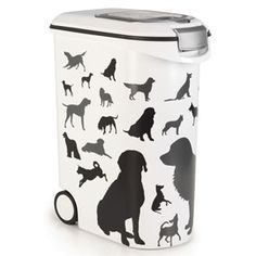 Details about White Pet Food Container Storage Refill Cat Dog Dry Box Feed Lid Wheels XXL Pet Food Container, Food Storage Containers, Home Goods, Wheels, Cat, Happy, Pets, Animal Food, Food Items