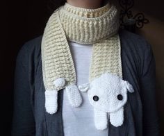 Bufanda borregito crochet