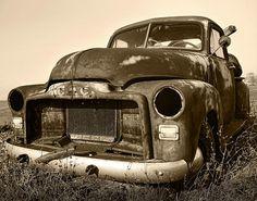 Rusty But Trusty Old GMC Pickup - by Gordon Dean II