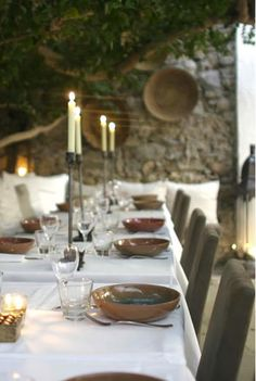 rustic dining in style~love it all!
