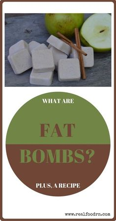 "What Are Fat Bombs? Plus, a Recipe. When you hear ""fat bombs"" you might not immediately think ""healthy snack"". But, they are! These delicious little treats are good for you, help with sleep, and have many more health benefits! realfoodrn.com"