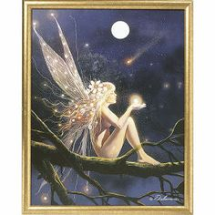 Falling Star Framed Print - New Age, Spiritual Gifts, Yoga, Wicca, Gothic, Reiki, Celtic, Crystal, Tarot at Pyramid Collection