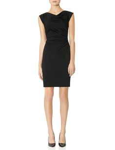 Draped Ponte Sheath Dress | Womens Dresses | THE LIMITED #NYE #LBD #TheLimited